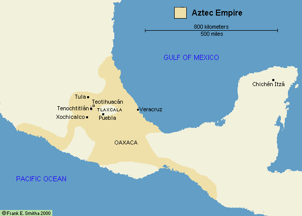 Aztec Empire World Map.Aztec Civilization World Map 11912 Loadtve